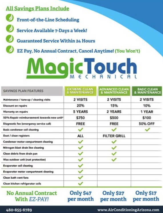 magic touch mechanical maintenance plans