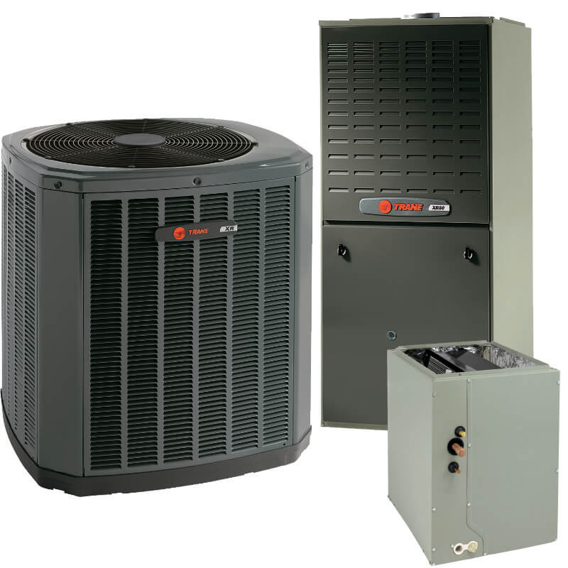 Trane XV18 with Trane XC80 | AC and Gas Furnace