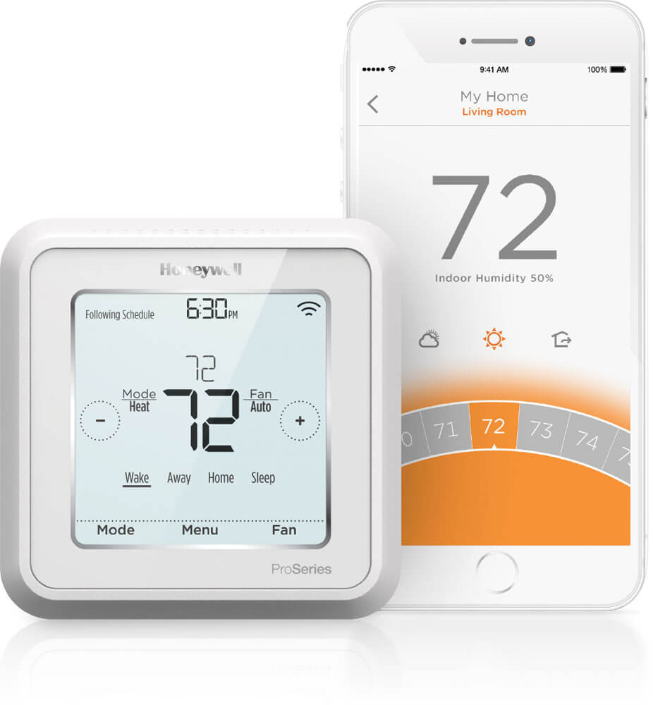 Honeywell Lyric T6 Wi Fi Thermostat Magic Touch Mechanical Single Zone Connected Rix Petroleum Thermostats Energy Star Certified