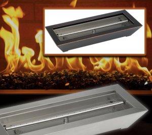 gas fireplace burner pan