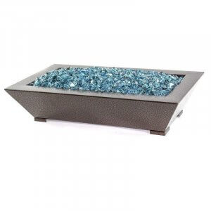 trapezoid pan blue fire glass