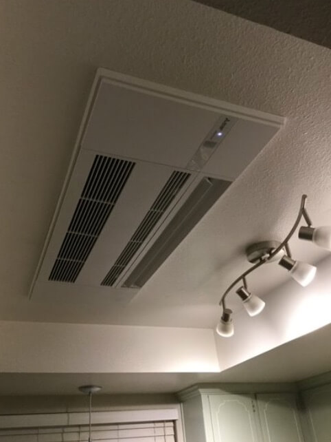 ductless mini split one way ceiling cassette install