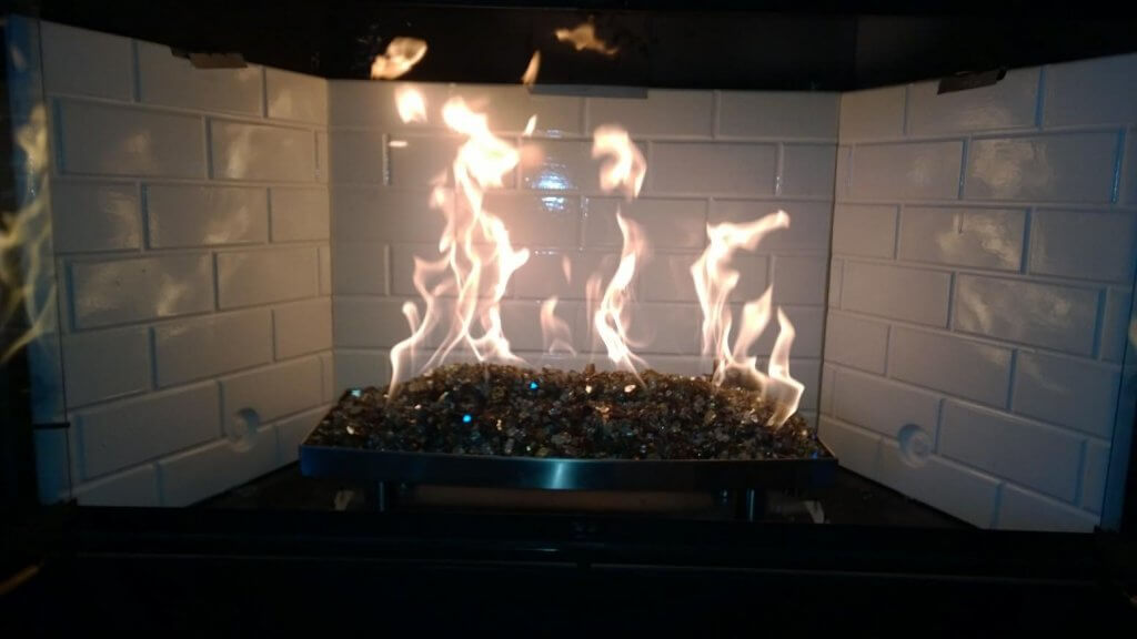 stainless steel fireplace burner