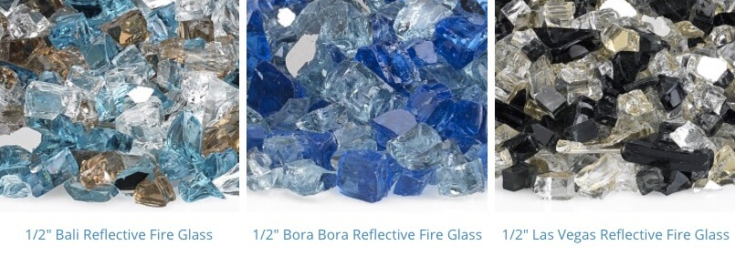 pre mixed reflective fire glass 1-3