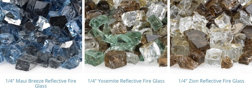pre mixed fire glass 10-12