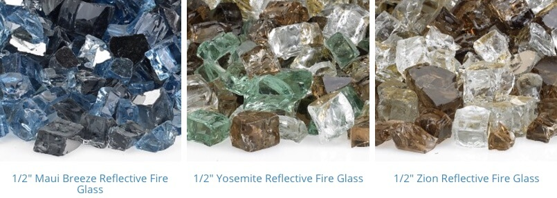 pre mixed reflective fire glass 4-6