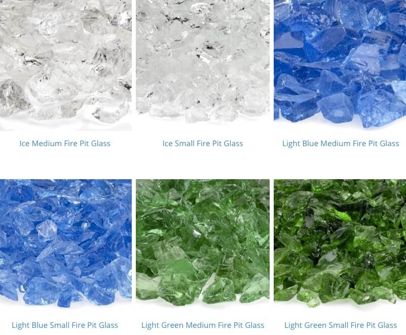 recycled fire pit glass 7-12