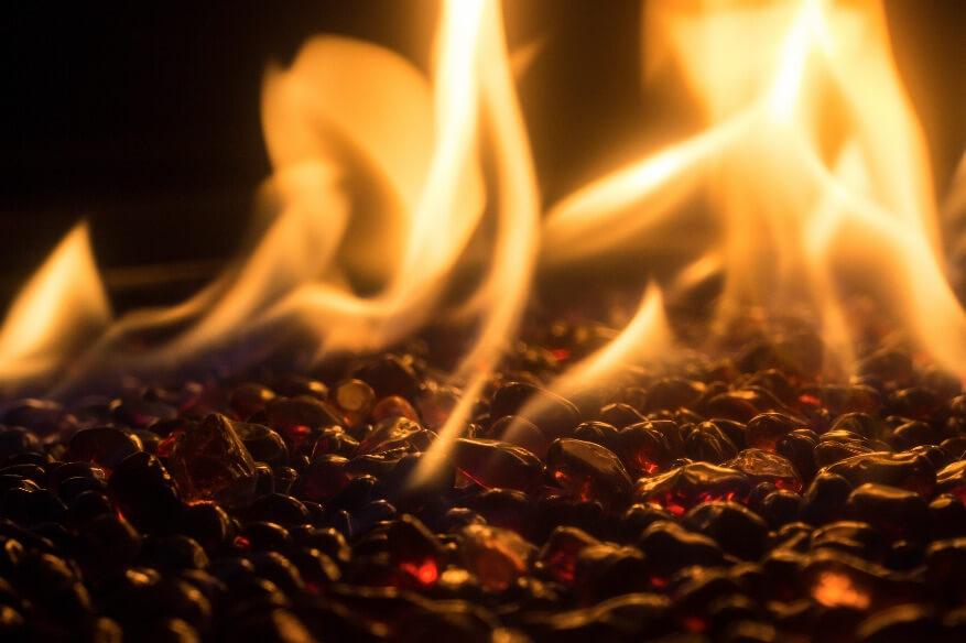 Gas Fireplace Hidden Burner Magic Touch Mechanical