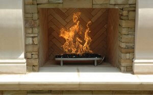 stainless fireplace pan