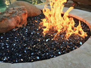 gas fire pit in Arizona