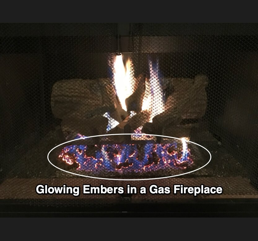 Glowing Embers In A Fireplace Magic Touch Mechanical